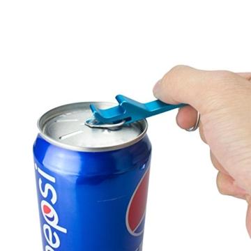 BIGBOBA 5 Stück Tragbar Mini Weinöffner Schlüsselbund Legierung Gadget Schlüsselring Für Männer, 6.5cm*1.2cm, Farbe Zufällig - 3
