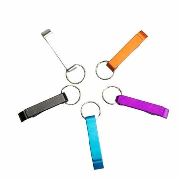 BIGBOBA 5 Stück Tragbar Mini Weinöffner Schlüsselbund Legierung Gadget Schlüsselring Für Männer, 6.5cm*1.2cm, Farbe Zufällig - 6