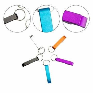 BIGBOBA 5 Stück Tragbar Mini Weinöffner Schlüsselbund Legierung Gadget Schlüsselring Für Männer, 6.5cm*1.2cm, Farbe Zufällig - 7
