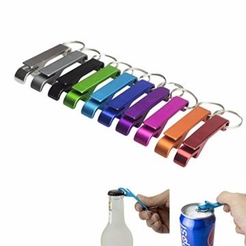 BIGBOBA 5 Stück Tragbar Mini Weinöffner Schlüsselbund Legierung Gadget Schlüsselring Für Männer, 6.5cm*1.2cm, Farbe Zufällig - 8
