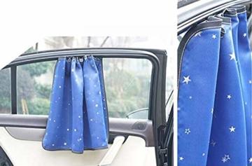 BLANCHO BEDDING EIN Paar Sommer Auto Gardinen Sonnenschutz Magnetic Type Doppelsonnenschirme, azurblaue Farbe - 2