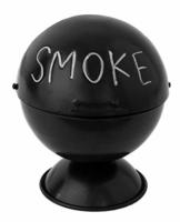 Boltze Sturm-Aschenbecher Kugelgrill-Design für Außenbereich - Mit Grillrost-Einlage und Sockel - Aufklappbar mit großem Fassungsvermögen - Ideal für Raucher und als Dekoration, auch für die Wohnung - 1
