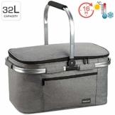 bomoe Kühltasche Picknickkorb faltbar IceBreezer K47 - Outdoor Kühlbox für unterwegs - 47x27x26 cm - 32 Liter - Auch als Picknicktasche nutzbar - Perfekt fürs Grillen oder Festival - 1