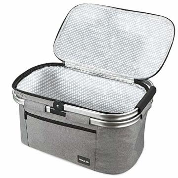 bomoe Kühltasche Picknickkorb faltbar IceBreezer K47 - Outdoor Kühlbox für unterwegs - 47x27x26 cm - 32 Liter - Auch als Picknicktasche nutzbar - Perfekt fürs Grillen oder Festival - 3