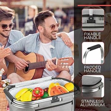 bomoe Kühltasche Picknickkorb faltbar IceBreezer K47 - Outdoor Kühlbox für unterwegs - 47x27x26 cm - 32 Liter - Auch als Picknicktasche nutzbar - Perfekt fürs Grillen oder Festival - 4
