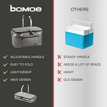 bomoe Kühltasche Picknickkorb faltbar IceBreezer K47 - Outdoor Kühlbox für unterwegs - 47x27x26 cm - 32 Liter - Auch als Picknicktasche nutzbar - Perfekt fürs Grillen oder Festival - 8