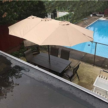 Briefkästen Sonnenschirme Sonnenschirm, Sonnenschirm Doppelsonnenschirme Terrasse Balkon/mit Kurbel, for Strand/Garten/Terrasse/Pavillon - ohne Grund (Color : Dark Beige) - 2
