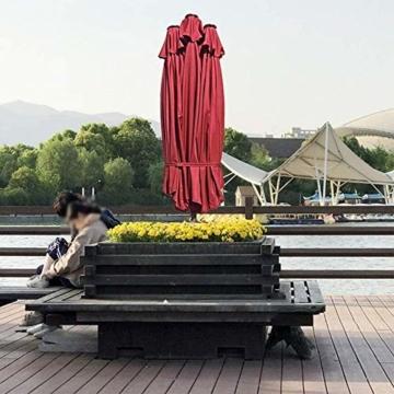Briefkästen Sonnenschirme Sonnenschirm, Sonnenschirm Doppelsonnenschirme Terrasse Balkon/mit Kurbel, for Strand/Garten/Terrasse/Pavillon - ohne Grund (Color : Dark Beige) - 6