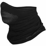 BRUBECK® X-Pro halbe klimaoaktive Gesichtsmaske Sturmhaube Sturmmaske, Größen: L/XL; Farbe: X-Pro / Black - 1
