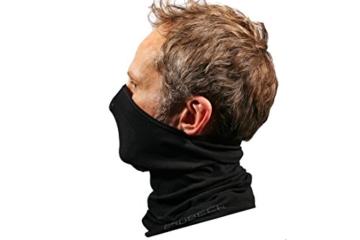BRUBECK® X-Pro halbe klimaoaktive Gesichtsmaske Sturmhaube Sturmmaske, Größen: L/XL; Farbe: X-Pro / Black - 4
