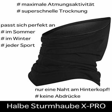 BRUBECK® X-Pro halbe klimaoaktive Gesichtsmaske Sturmhaube Sturmmaske, Größen: L/XL; Farbe: X-Pro / Black - 7