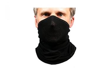 BRUBECK® X-Pro halbe klimaoaktive Gesichtsmaske Sturmhaube Sturmmaske, Größen: L/XL; Farbe: X-Pro / Black - 8