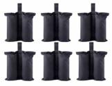 CACTIYE Gewichtssäcke für strapazierfähige Premium Instant Shelters Pavillon Sandsack Zelt Bein Gewicht Tasche für Pop Up Baldachin Zelt Gewichtete Füße Tasche (6, schwarz) - 1
