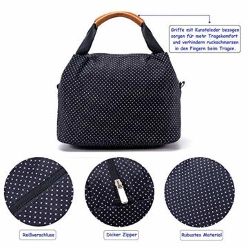 CALIYO Lunchtasche Kühltasche klein Isoliertasche wassedicht Lunchbag mit Reißverschluss Thermotasche faltbar für Arbeit, Schule und unterwegs 9 Liter (Schwarz) - 6