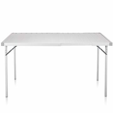 Campart Campingtisch/ Reisetisch - 94/127 x 70 cm wetterbeständige Rolltischfläche aus Aluminium/ erweiterbare Tischplatte, TA-0808 - 11