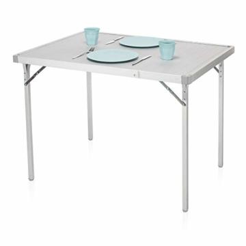Campart Campingtisch/ Reisetisch - 94/127 x 70 cm wetterbeständige Rolltischfläche aus Aluminium/ erweiterbare Tischplatte, TA-0808 - 12