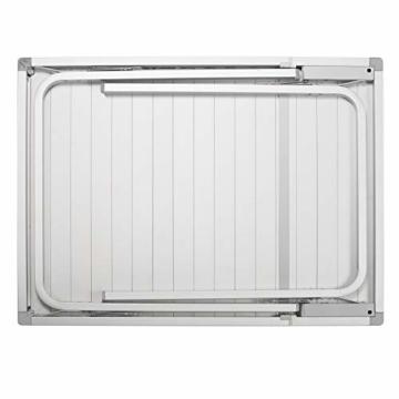 Campart Campingtisch/ Reisetisch - 94/127 x 70 cm wetterbeständige Rolltischfläche aus Aluminium/ erweiterbare Tischplatte, TA-0808 - 4