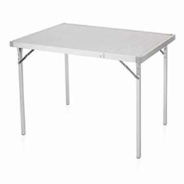 Campart Campingtisch/ Reisetisch - 94/127 x 70 cm wetterbeständige Rolltischfläche aus Aluminium/ erweiterbare Tischplatte, TA-0808 - 1