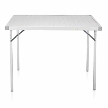 Campart Campingtisch/ Reisetisch - 94/127 x 70 cm wetterbeständige Rolltischfläche aus Aluminium/ erweiterbare Tischplatte, TA-0808 - 7