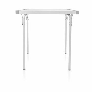 Campart Campingtisch/ Reisetisch - 94/127 x 70 cm wetterbeständige Rolltischfläche aus Aluminium/ erweiterbare Tischplatte, TA-0808 - 9