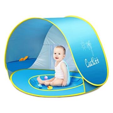 Ceekii Baby Strandzelt, Pop-up Baby Strand Zelt Portable Shade Pool UV-Schutz Sun Shelter für Kleinkinder, Strandmuschel, Baby Pool - 5