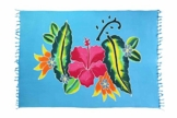 Ciffre Sarong Pareo Wickelrock Strandtuch Tuch Schal Wickelkleid Strandkleid Blickdicht Key West - Edel Blumen Muster - 1