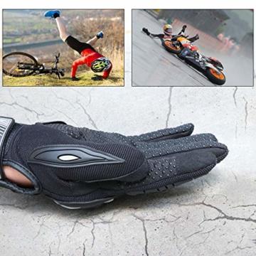 COFIT Motorrad Handschuhe, Touchscreen Motorradhandschuhe für Motorradrennen, Mountainbike, Motorcross, Klettern, Wandern und andere Outdoor Sportarten und Aktivitäten - Schwarz XL - 2
