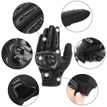 COFIT Motorrad Handschuhe, Touchscreen Motorradhandschuhe für Motorradrennen, Mountainbike, Motorcross, Klettern, Wandern und andere Outdoor Sportarten und Aktivitäten - Schwarz XL - 3