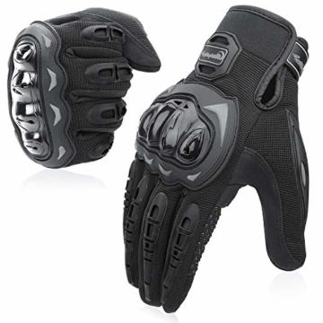 COFIT Motorrad Handschuhe, Touchscreen Motorradhandschuhe für Motorradrennen, Mountainbike, Motorcross, Klettern, Wandern und andere Outdoor Sportarten und Aktivitäten - Schwarz XL - 1