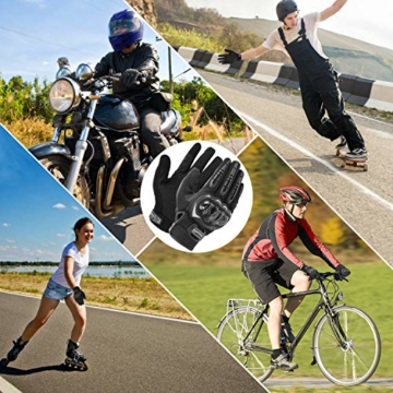 COFIT Motorrad Handschuhe, Touchscreen Motorradhandschuhe für Motorradrennen, Mountainbike, Motorcross, Klettern, Wandern und andere Outdoor Sportarten und Aktivitäten - Schwarz XL - 5