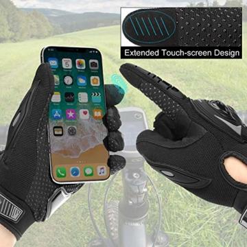 COFIT Motorrad Handschuhe, Touchscreen Motorradhandschuhe für Motorradrennen, Mountainbike, Motorcross, Klettern, Wandern und andere Outdoor Sportarten und Aktivitäten - Schwarz XL - 6