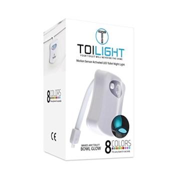 Das Nachtlicht Gadget für die Kloschüssel Lustiges LED Bewegungslicht. Vatertagsgeschenk Muttertagsgeschenk Besondere Geschenke für Weihnachten Frauen Männer Väter Mama Beste Ehemann Herren Ihn Sie - 2