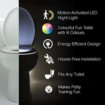 Das Nachtlicht Gadget für die Kloschüssel Lustiges LED Bewegungslicht. Vatertagsgeschenk Muttertagsgeschenk Besondere Geschenke für Weihnachten Frauen Männer Väter Mama Beste Ehemann Herren Ihn Sie - 3