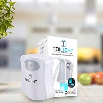 Das Nachtlicht Gadget für die Kloschüssel Lustiges LED Bewegungslicht. Vatertagsgeschenk Muttertagsgeschenk Besondere Geschenke für Weihnachten Frauen Männer Väter Mama Beste Ehemann Herren Ihn Sie - 4