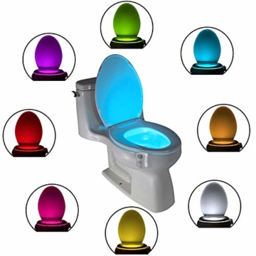 Das Nachtlicht Gadget für die Kloschüssel Lustiges LED Bewegungslicht. Vatertagsgeschenk Muttertagsgeschenk Besondere Geschenke für Weihnachten Frauen Männer Väter Mama Beste Ehemann Herren Ihn Sie - 1