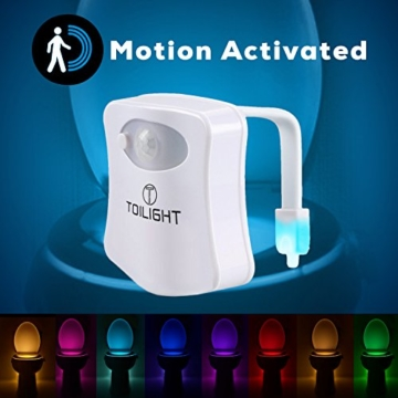 Das Nachtlicht Gadget für die Kloschüssel Lustiges LED Bewegungslicht. Vatertagsgeschenk Muttertagsgeschenk Besondere Geschenke für Weihnachten Frauen Männer Väter Mama Beste Ehemann Herren Ihn Sie - 5