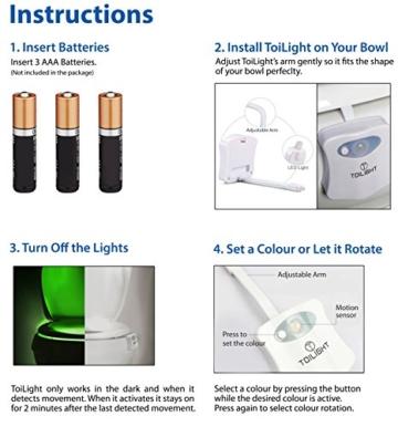 Das Nachtlicht Gadget für die Kloschüssel Lustiges LED Bewegungslicht. Vatertagsgeschenk Muttertagsgeschenk Besondere Geschenke für Weihnachten Frauen Männer Väter Mama Beste Ehemann Herren Ihn Sie - 6