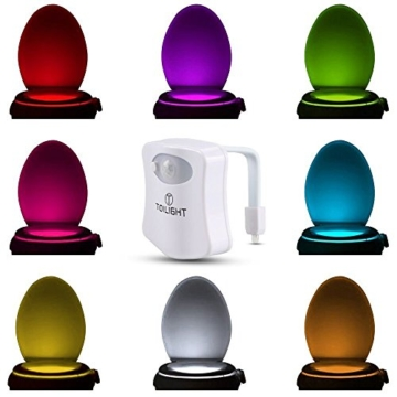 Das Nachtlicht Gadget für die Kloschüssel Lustiges LED Bewegungslicht. Vatertagsgeschenk Muttertagsgeschenk Besondere Geschenke für Weihnachten Frauen Männer Väter Mama Beste Ehemann Herren Ihn Sie - 8