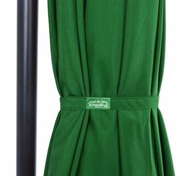 Deuba® Alu Ampelschirm Ø 330cm grün mit Kurbelvorrichtung Aluminium Wasserabweisende Bespannung - Sonnenschirm Schirm Gartenschirm Marktschirm - 2