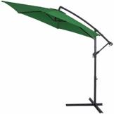 Deuba® Alu Ampelschirm Ø 330cm grün mit Kurbelvorrichtung Aluminium Wasserabweisende Bespannung - Sonnenschirm Schirm Gartenschirm Marktschirm - 1