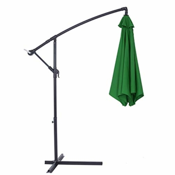 Deuba® Alu Ampelschirm Ø 330cm grün mit Kurbelvorrichtung Aluminium Wasserabweisende Bespannung - Sonnenschirm Schirm Gartenschirm Marktschirm - 7