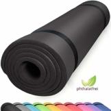 diMio Komfort-Gymnastikmatte Yogamatte in 185x60x1cm, 185x60x1.5cm, 185x90x1.5cm, 200x100x2 mit Tragegurt Phtalatfrei + SGS-geprüft - 1