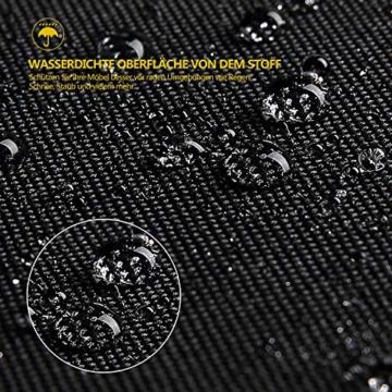 Dokon Sonnenschirm Schutzhülle mit Stab, Sonnenschirm Abdeckung für 2 bis 3 m Große Sonnenschirmhülle, Wasserdichte, Winddichte, UV-Beständiges, Schwerlast Reißfest 600D Oxford Gewebe - 5