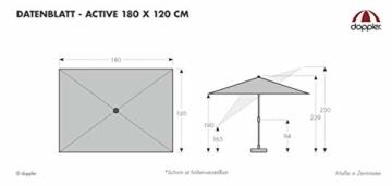 Doppler Active – Rechteckiger Sonnenschirm für Balkon und Terrasse – Knickbar – 180x120 cm – Terra Cotta - 4