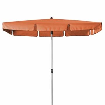 Doppler Active – Rechteckiger Sonnenschirm für Balkon und Terrasse – Knickbar – 180x120 cm – Terra Cotta - 5
