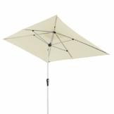 Doppler Aluminium Sonnenschirm SL-AZ 190x290 - Rechteckiger Sonnenschutz für Balkon/Terrasse - Knickbar - 190x290 cm - Natur - 1