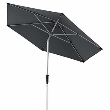 Doppler Aluminium Sonnenschirm SL-AZ 275, Knickbarer Sonnenschutz für Balkon oder Terrasse, Regenabweisend, Anthrazit, 275 cm - 1