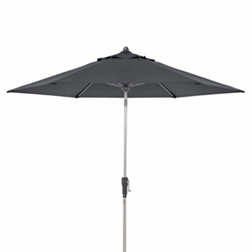 Doppler Aluminium Sonnenschirm SL-AZ 275, Knickbarer Sonnenschutz für Balkon oder Terrasse, Regenabweisend, Anthrazit, 275 cm - 5