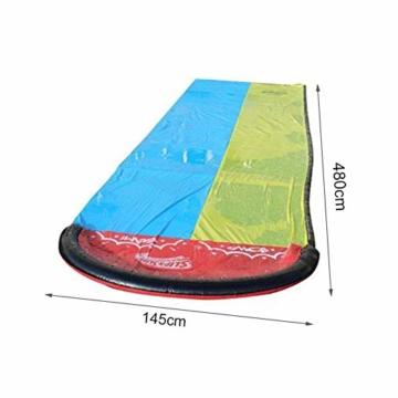 Dream-cool Wasserrutsche Rutschmatte, Riese Doppel-Wasserrutschbahn Rutsche Wassermatte Mit Sprinkler, Kinder Wasser Spielzeug Outdoor Wasserspielzeug Für Garten Rasen, 610 X 145 Cm, Ab 3 Jahre - 6