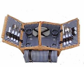 Dutch Mountains - Picknickkorb Deluxe 4-Personen 24-teilig mit Kleid – Ausverkauf - 4
